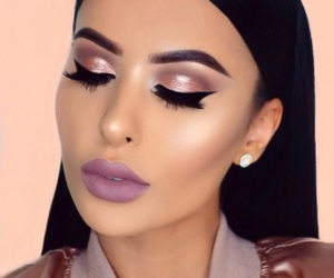 hair, makeup, and lipstick image