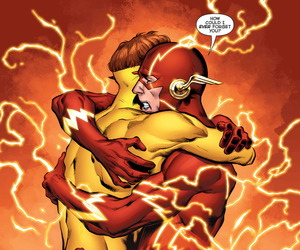 the flash, wally west, and kid flash image