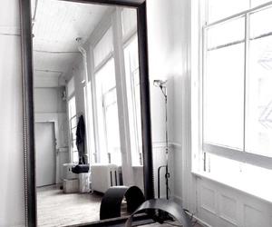 mirror, white, and decor image