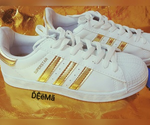 adidas, gold, and happy image