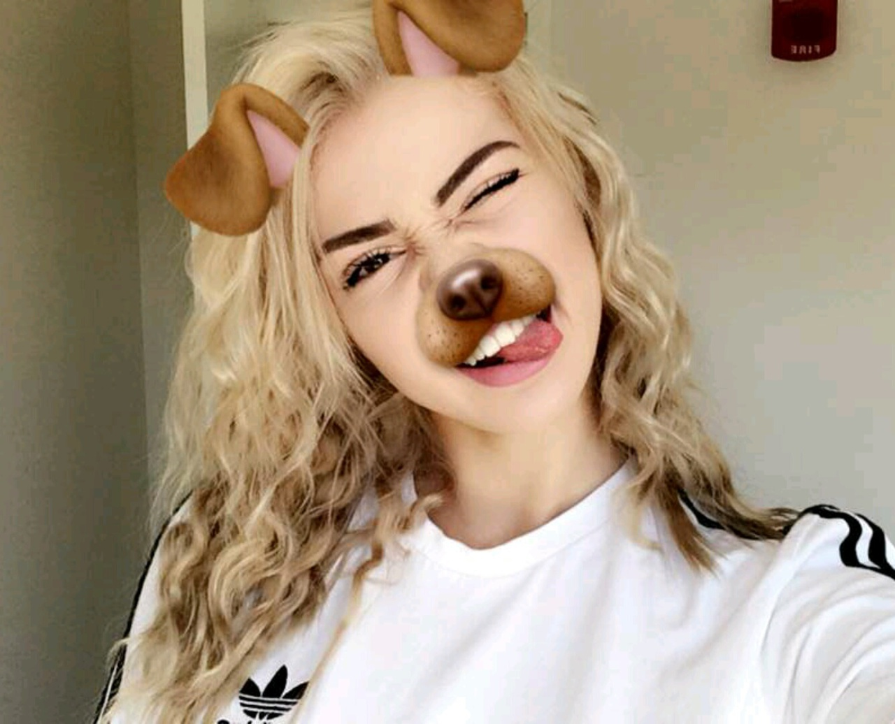 Kristen With Dog Filter On Snapchat Kristen Hancher