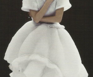 1990, comme des garcons, and wedding dress image