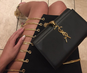 bag, black, and dress image
