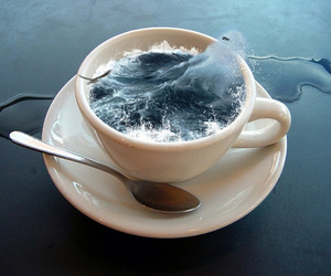 ocean, sea, and cup image