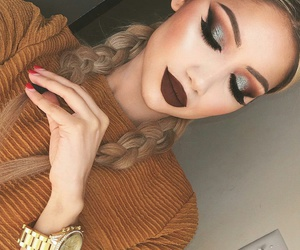 beautiful, eyebrows, and makeup image