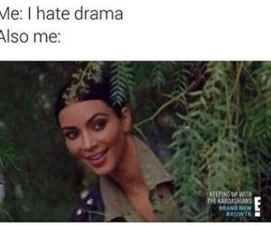 funny, drama, and kim kardashian image