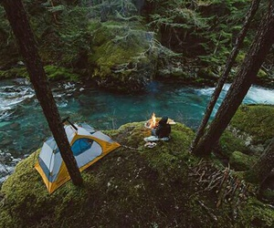 nature, camping, and river image