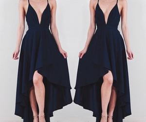 blue dress, fashion, and dress image