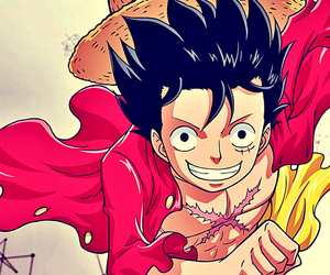 captain, one piece, and straw hat image