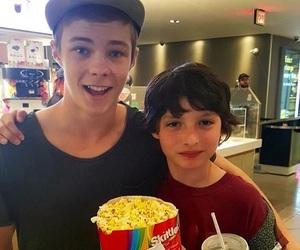 finn wolfhard, it, and Stephen King image