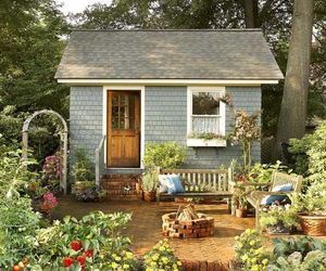 cottage, garden, and home image