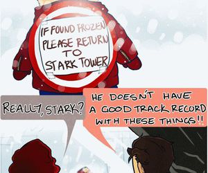 tony stark, black widow, and captain america image