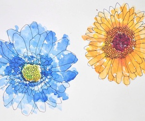 flowers, paint, and spring image