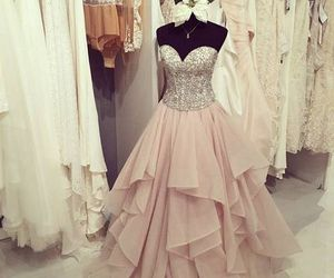 dress, beautiful, and prom dress image