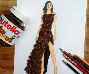 nutella, art, and dress image