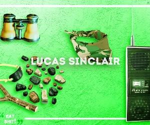 stranger things, lucas sinclair, and caleb mclaughlin image