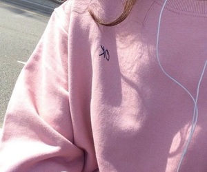girl, pink, and sweater image