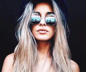 girl, sunglasses, and blonde image
