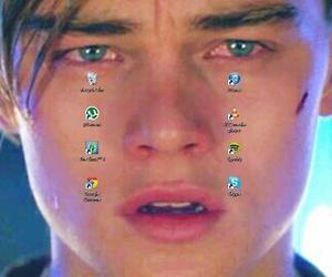 leonardo dicaprio, sad, and cry image