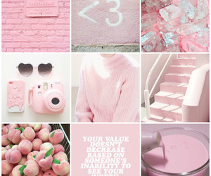 Collage, pastel, and pink image
