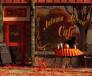 autumn, fall, and cafe image