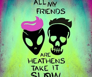 twenty one pilots, suicide squad, and heathens image