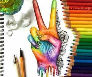 art, artwork, and coloured image
