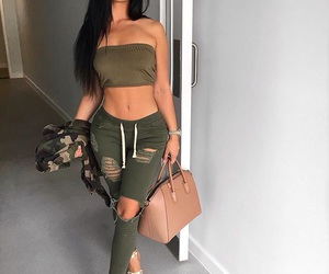 fashion, outfits, and olive green image