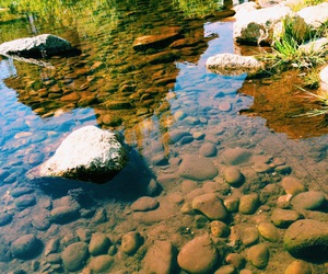 nature, river, and rocks image