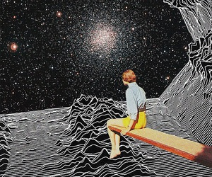 joy division, stars, and space image