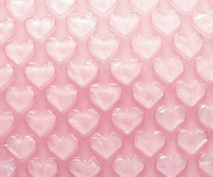 pink, heart, and wallpaper image