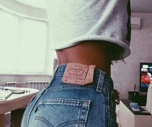 jeans, outfit, and body image