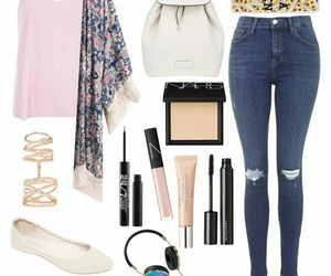 jeans, white, and fashion image