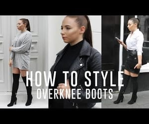 blogger, overknee boots, and fashion image