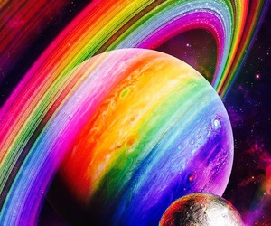 rainbow, space, and color image