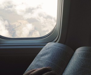 book, plane, and read image