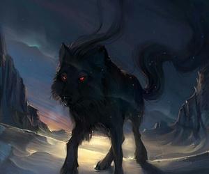 wolf dark image