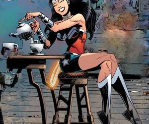 morning, tea, and dc universe image