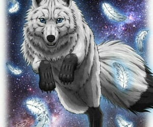 art, wolf, and cool image