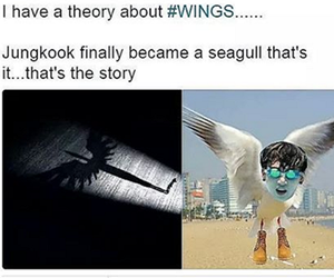 kpop, wings, and bts image