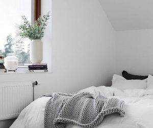 beautiful, bed, and grey image