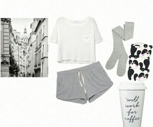 outfit, pijama, and Polyvore image
