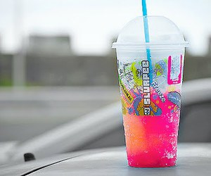 drink, slurpee, and pink image