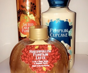 autumn, lotion, and pumpkins image