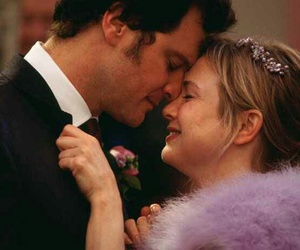 bridget jones, couple, and Colin Firth image