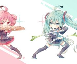 miku hatsune and teto kasane image