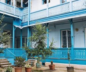 blue, house, and Island image