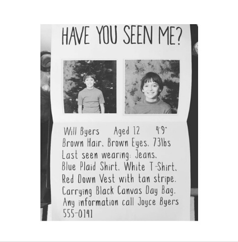 Have You Seen Me Will Byers