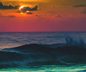 sunset, ocean, and beautiful image