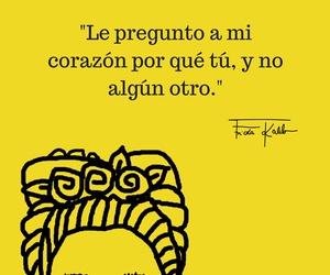 frases, frida kahlo, and yellow image
